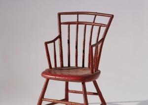 Childu0027s Windsor Bamboo Turned Armchair