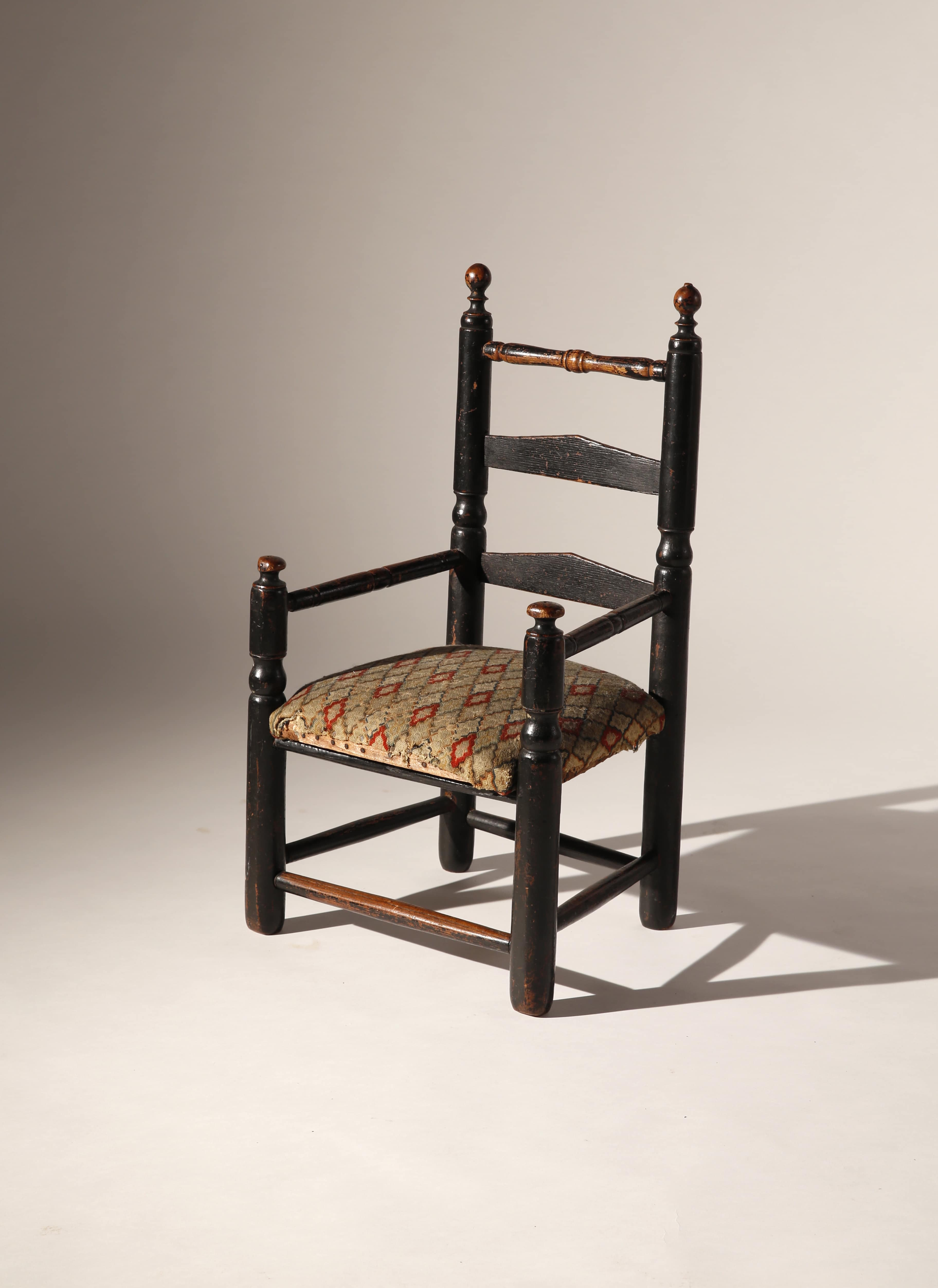 Awe Inspiring William And Mary Childs Slat Back Chair Liverant Antiques Machost Co Dining Chair Design Ideas Machostcouk
